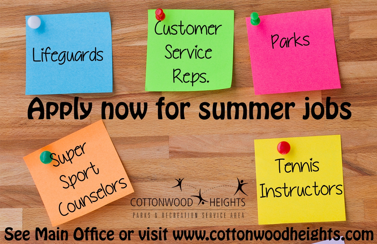 Now Hiring for Spring & Summer!