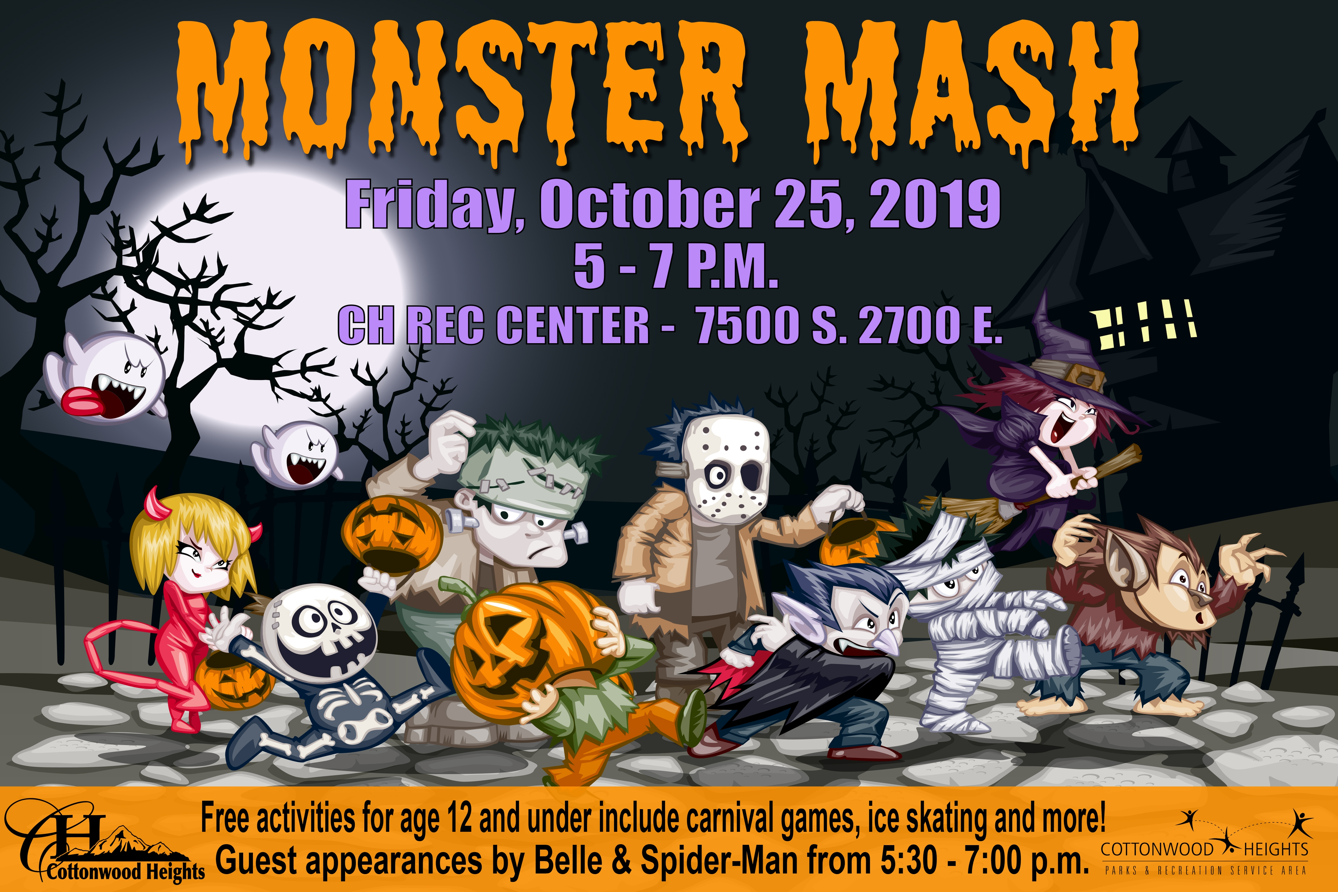 Monster Mash - Friday, October 25, 2019 From 5 - 7 P.M. Come And Meet Belle & Spider-Man!